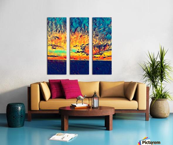 sky wires Split Canvas print