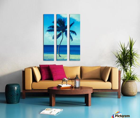 palm color 6 Split Canvas print