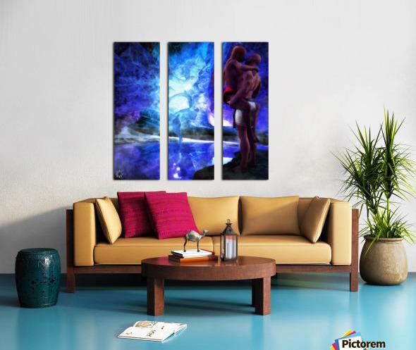 The Lovers Pool Split Canvas print