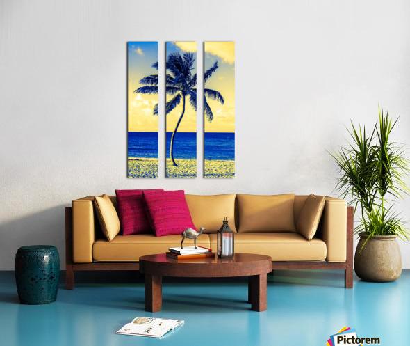 palm color 4 Split Canvas print