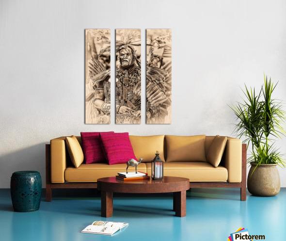 Native American 2 Split Canvas print