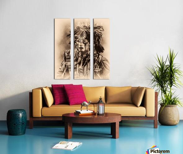 Native American 4 Split Canvas print