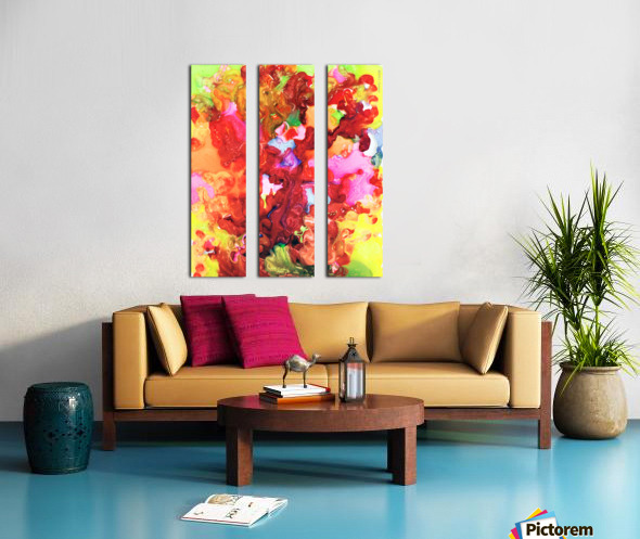 Clarity and Blur Midday Split Canvas print