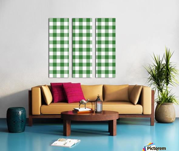 Green Plaid Pattern Split Canvas print