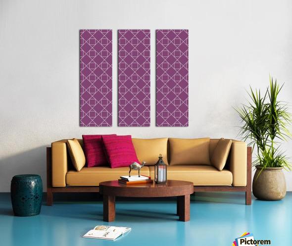Light Purple Squares And Diamonds Pattern Split Canvas print