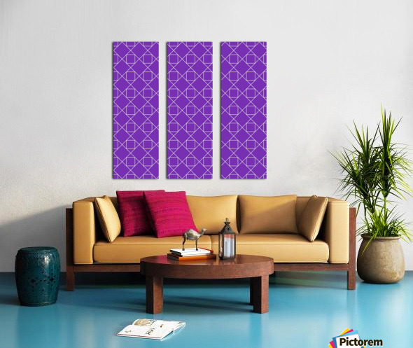 Purple Squares And Diamonds Pattern Split Canvas print