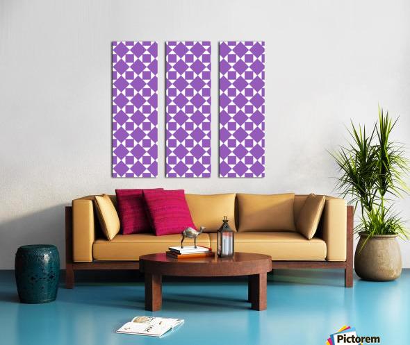 Purple Geometric Pattern Split Canvas print