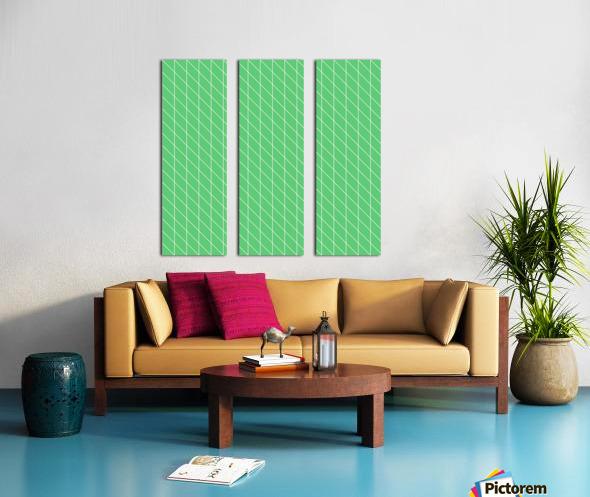 Green Color Checkers Pattern Split Canvas print