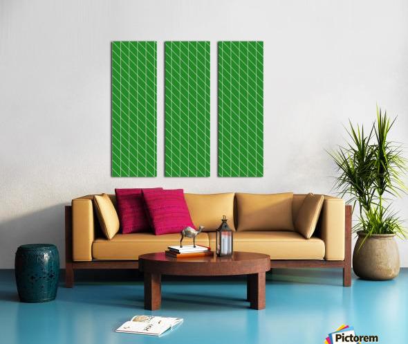 Green Checkers Pattern Split Canvas print