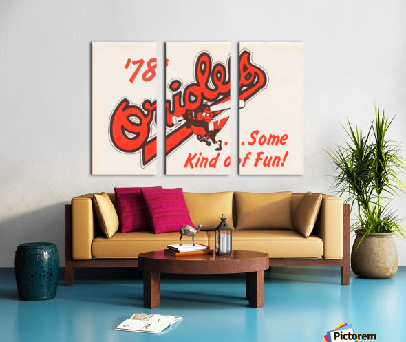 1978 Baltimore Orioles Some Kind of Fun Poster Toile Multi-Panneaux