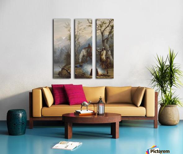 Roasting The Hump Rib Split Canvas print