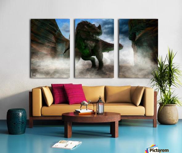 The Canyon Split Canvas print