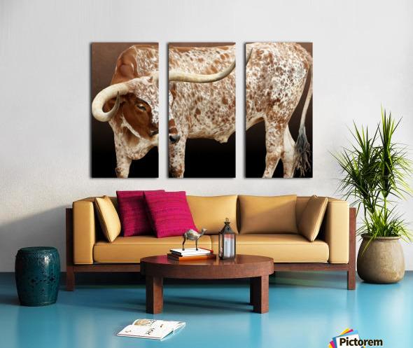 Longhorn Steer Profile 7x5 Split Canvas print