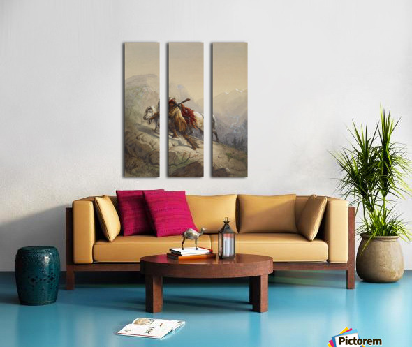 The Scalp-Lock Split Canvas print