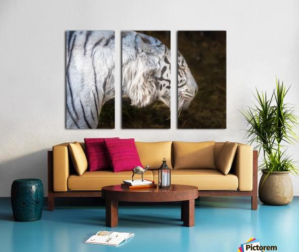 White Bengal Tiger 2 Split Canvas print