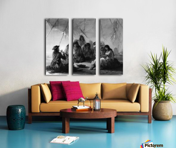 Indian hospitality Split Canvas print