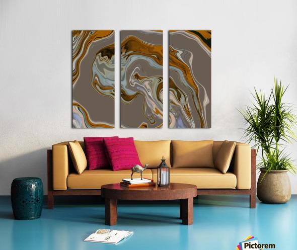 Reflection in Chrome Split Canvas print