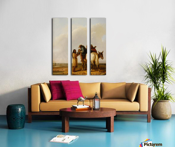 The Thirsty Trapper Split Canvas print