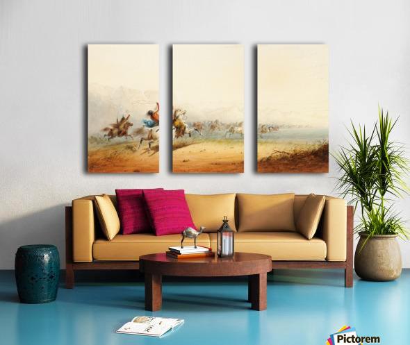 Lassoing Horses Split Canvas print