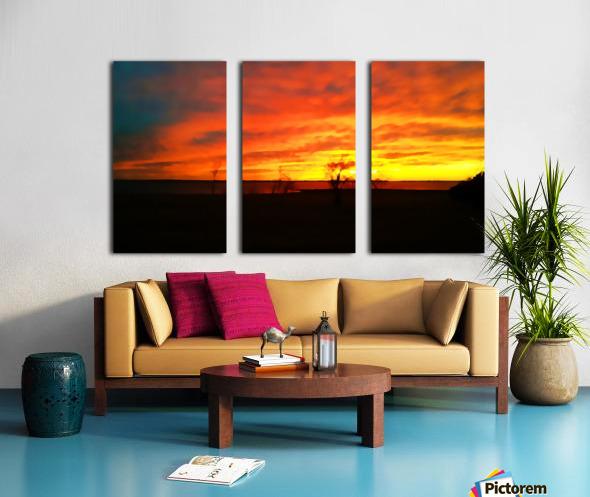 Evening Magic Split Canvas print