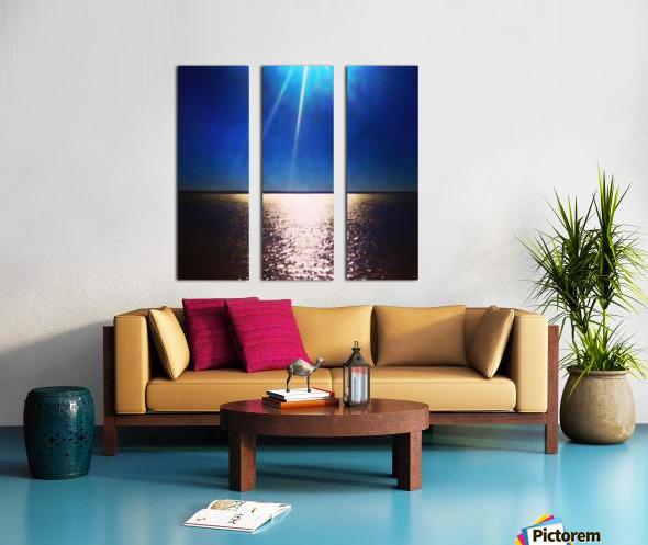 Light Shine Split Canvas print