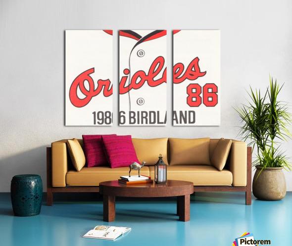 1986 Baltimore Orioles Metal Sign Split Canvas print