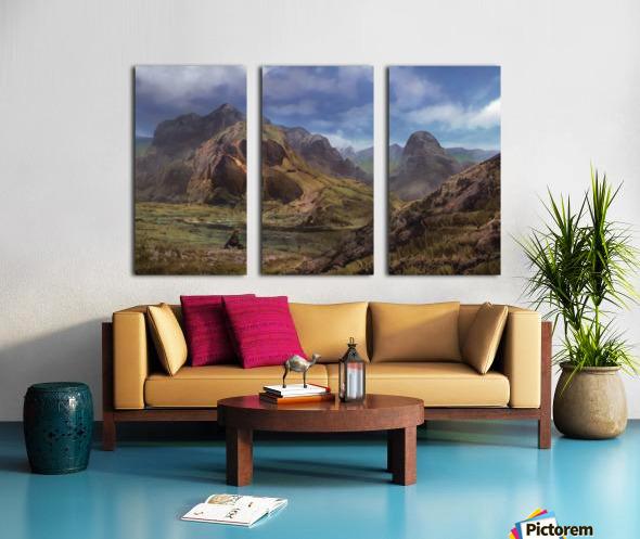 Landscape with giant skull Split Canvas print
