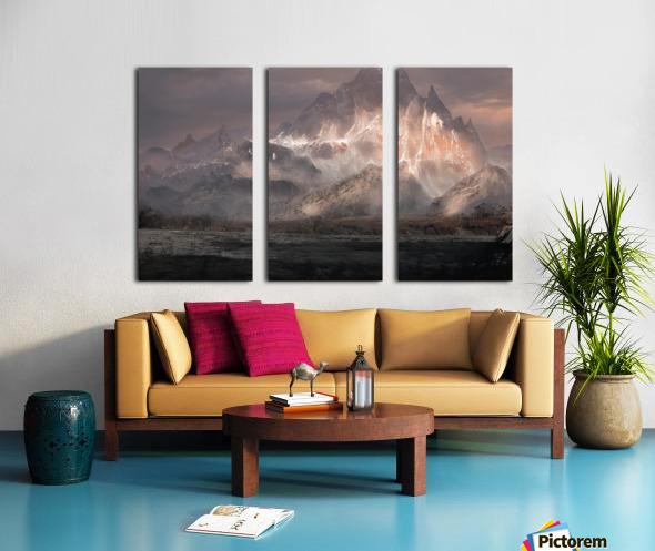Snowy mountain Split Canvas print