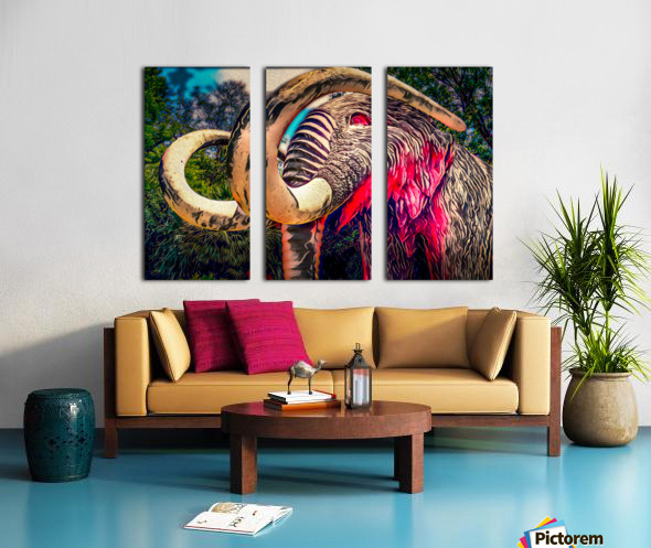 Wooly Mamoth Split Canvas print