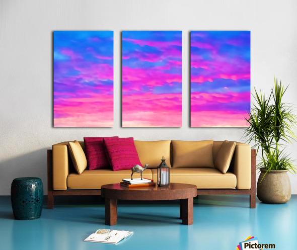 pink waves Split Canvas print