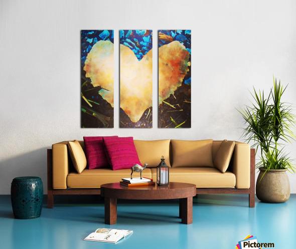 heart leaf Split Canvas print