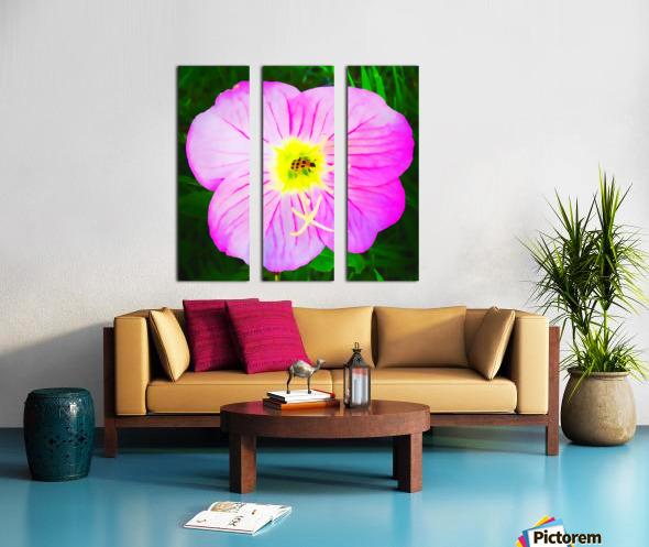 lady bug flower Split Canvas print