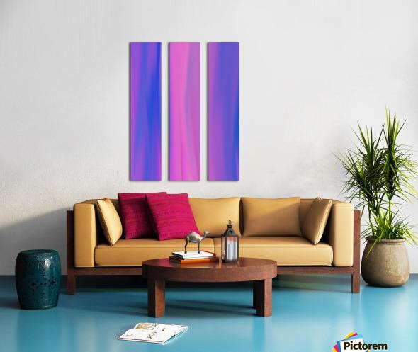 Purple Patterns Split Canvas print