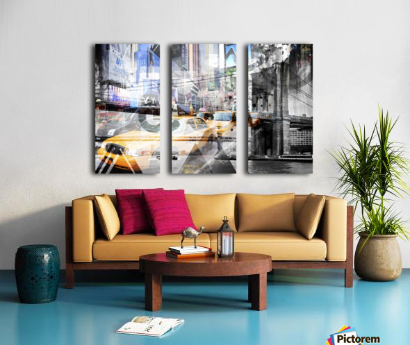 New York City Geometric Mix No. 9 Split Canvas print