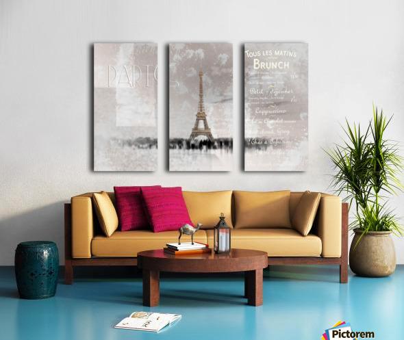 Digital-Art Eiffel Tower II Split Canvas print