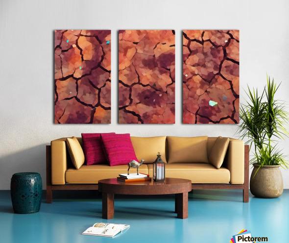 rocks art two Split Canvas print