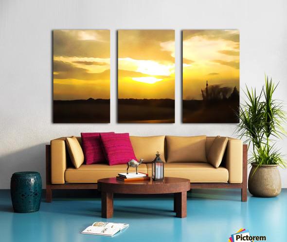 golden evening Split Canvas print