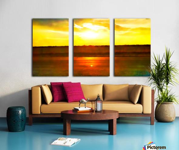 orange yellow Split Canvas print