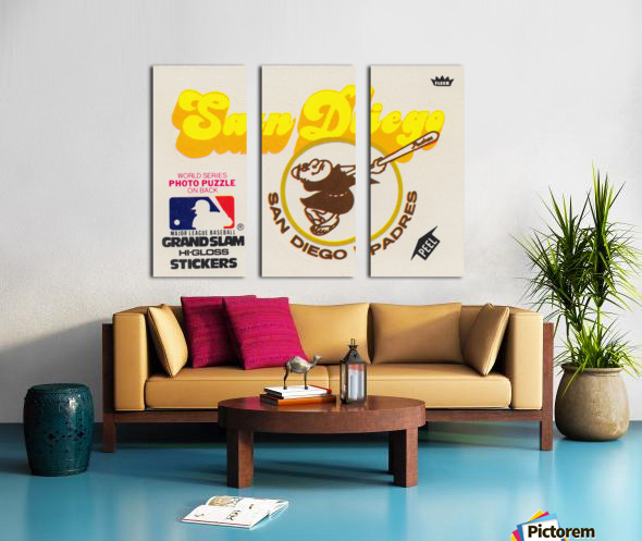 1981 Fleer San Diego Padres Decal Poster Split Canvas print