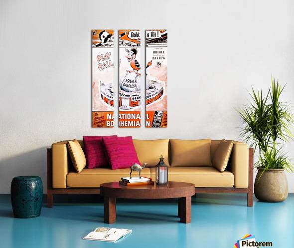 1954 Orioles Score Card Art Split Canvas print