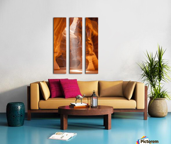 Beautiful Antelope Canyon Split Canvas print
