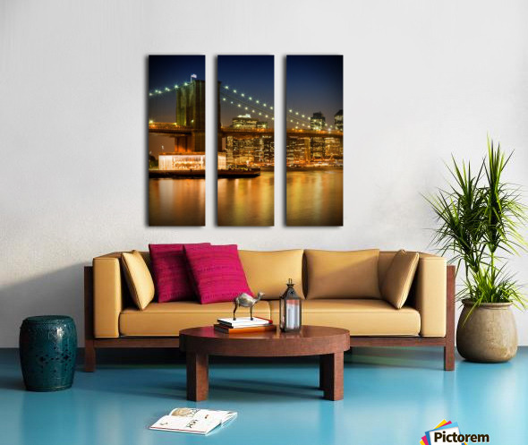 Night-Skylines NEW YORK CITY Split Canvas print