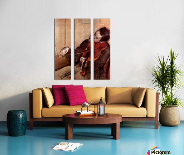 The violinist 1 by Degas Split Canvas print