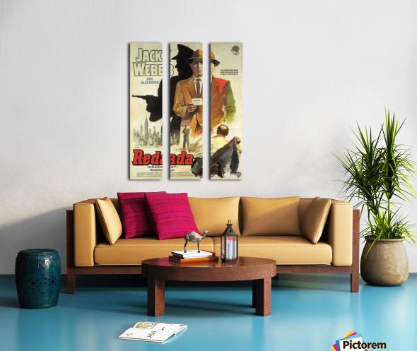 Film Noir Poster - Dragnet Split Canvas print