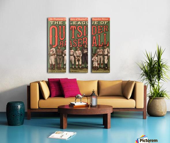 League of Outsider Baseball Split Canvas print