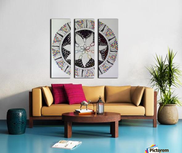 Cosmic Mandala Split Canvas print