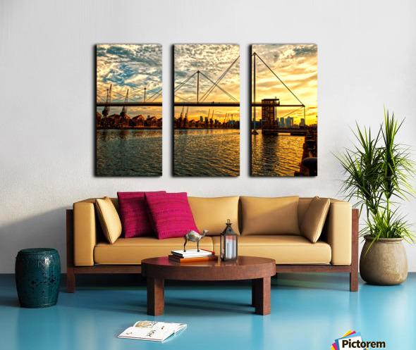 Amazing Sunset over river Split Canvas print