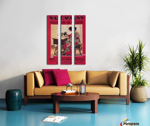 Naumann Sewing Machine Split Canvas print