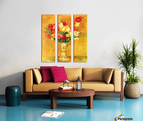 Tulips in a Vase Split Canvas print