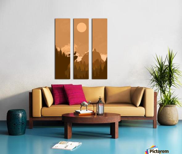 Mountain Wolf Day Split Canvas print